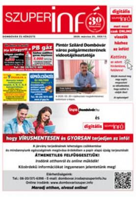 Digitális Szuperinfó Dombóvár és Körzete 2020. 13. szám