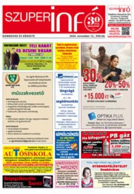 Dombóvári Szuperinfó 2020. 46. szám