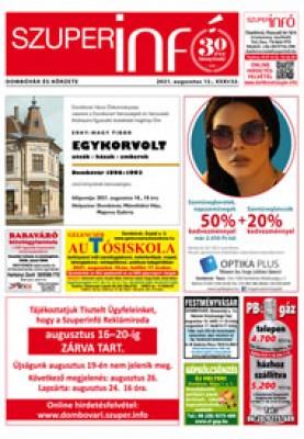 Dombóvári Szuperinfó 2021. 32. szám