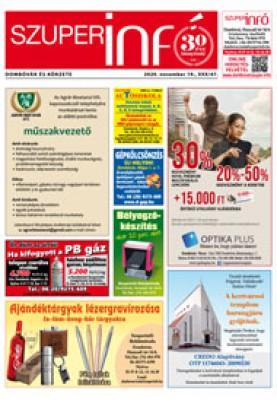 Dombóvári Szuperinfó 2020. 47. szám